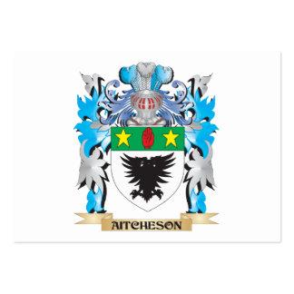 Escudo de armas de Aitcheson Tarjeta Personal