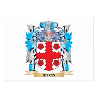 Escudo de armas de Aiton Tarjetas De Visita