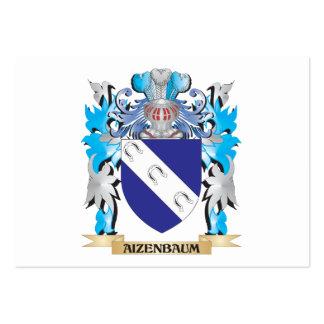 Escudo de armas de Aizenbaum Plantilla De Tarjeta De Visita
