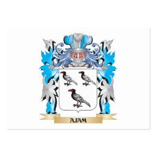 Escudo de armas de Ajam Tarjeta De Visita