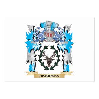 Escudo de armas de Akerman Plantilla De Tarjeta De Visita