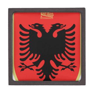 Escudo de armas de Albania Caja De Regalo