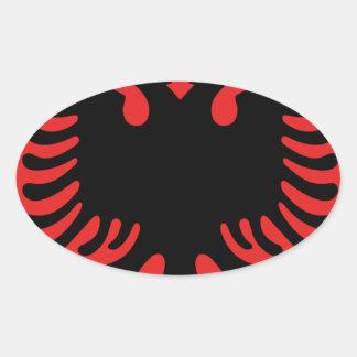 Escudo de armas de Albania Pegatina Ovalada
