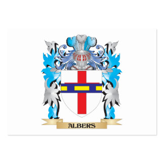 Escudo de armas de Albers Tarjeta De Visita