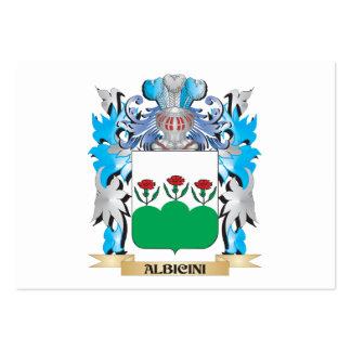 Escudo de armas de Albicini Tarjetas De Visita