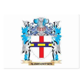Escudo de armas de Albrechtsen Plantillas De Tarjeta De Negocio