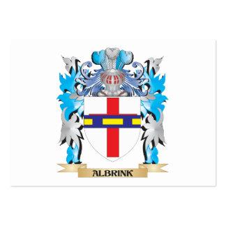 Escudo de armas de Albrink Plantilla De Tarjeta De Visita