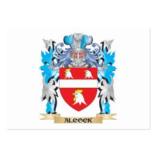 Escudo de armas de Alcock Plantilla De Tarjeta De Visita