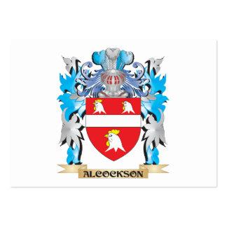 Escudo de armas de Alcockson Tarjeta De Visita
