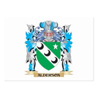 Escudo de armas de Alderson Plantillas De Tarjetas De Visita