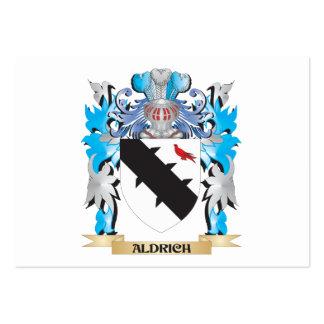 Escudo de armas de Aldrich Tarjeta De Visita