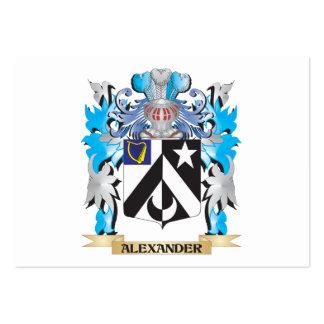 Escudo de armas de Alexander Tarjetas De Visita