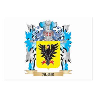 Escudo de armas de Algie Tarjeta De Negocio