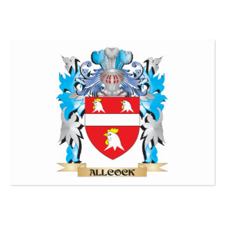 Escudo de armas de Allcock Tarjeta De Visita