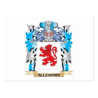 Escudo de armas de Alleborn Tarjeta De Visita