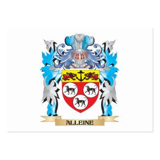 Escudo de armas de Alleine Tarjetas De Visita