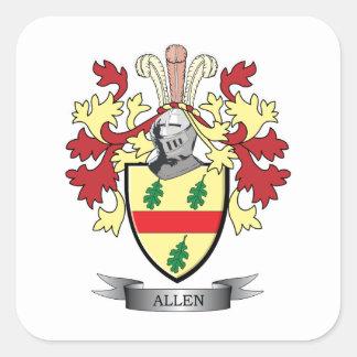 Escudo de armas de Allen Pegatina Cuadrada