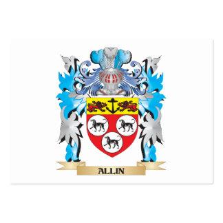 Escudo de armas de Allin Tarjetas De Visita