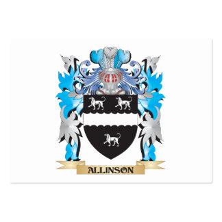 Escudo de armas de Allinson Plantilla De Tarjeta De Negocio
