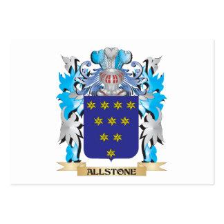 Escudo de armas de Allstone Plantillas De Tarjeta De Negocio