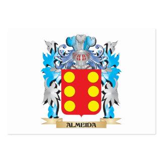 Escudo de armas de Almeida Plantilla De Tarjeta Personal