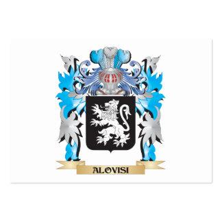 Escudo de armas de Alovisi Tarjeta De Negocio