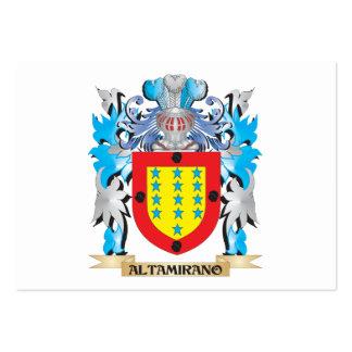 Escudo de armas de Altamirano Tarjeta De Visita