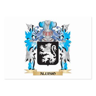 Escudo de armas de Aluisio Tarjetas De Negocios