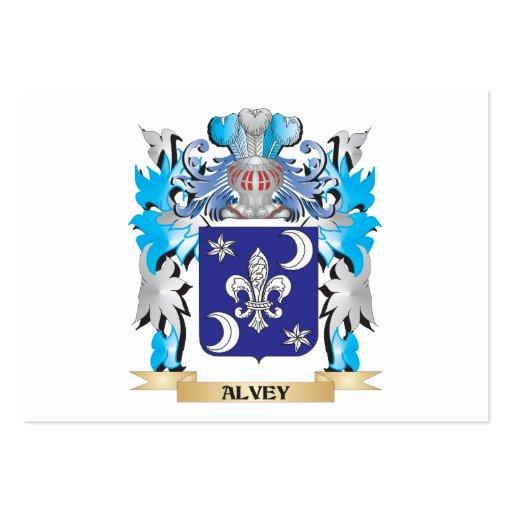 Escudo de armas de Alvey Tarjetas De Visita