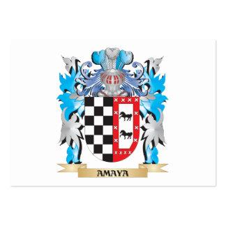 Escudo de armas de Amaya Tarjetas Personales