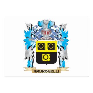 Escudo de armas de Ambrogelli Tarjeta De Visita
