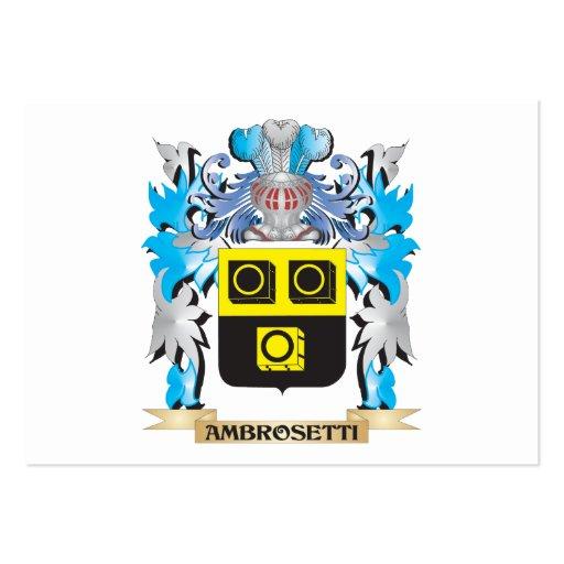 Escudo de armas de Ambrosetti Tarjeta De Visita