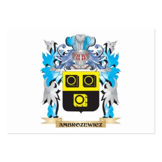 Escudo de armas de Ambrozewicz Plantilla De Tarjeta De Negocio