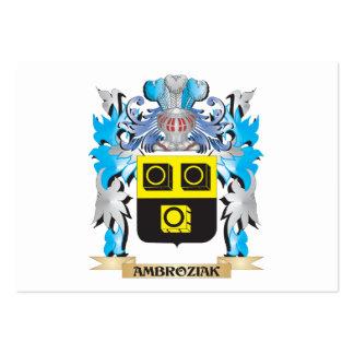 Escudo de armas de Ambroziak Tarjeta De Visita