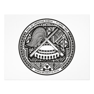 Escudo de armas de American Samoa Tarjetones