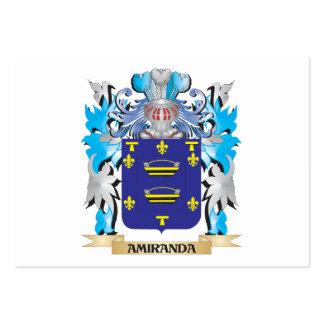 Escudo de armas de Amiranda Plantilla De Tarjeta De Negocio