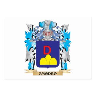 Escudo de armas de Amodeo Tarjeta De Visita