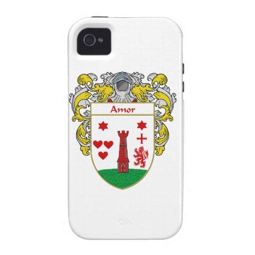 Escudo de armas de Amor/escudo de la familia: iPhone 4/4S Funda