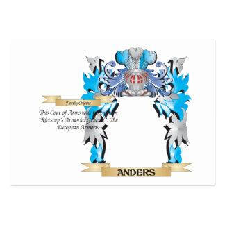 Escudo de armas de Anders Tarjetas De Visita