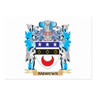 Escudo de armas de Andrews Tarjeta De Visita