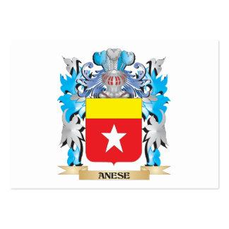 Escudo de armas de Anese Tarjetas De Visita
