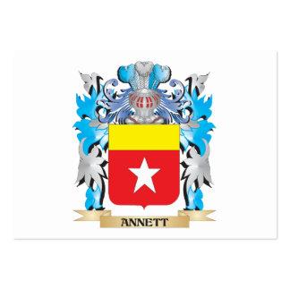 Escudo de armas de Annett Plantilla De Tarjeta Personal