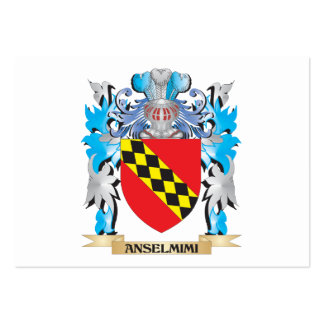 Escudo de armas de Anselmimi Plantillas De Tarjetas De Visita
