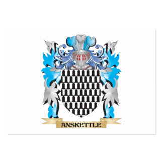 Escudo de armas de Anskettle Tarjetas De Visita