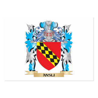 Escudo de armas de Ansli Plantillas De Tarjeta De Negocio