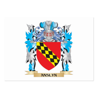 Escudo de armas de Anslyn Plantilla De Tarjeta De Visita