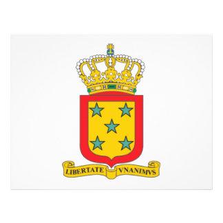 Escudo de armas de Antillas holandesas Tarjeton