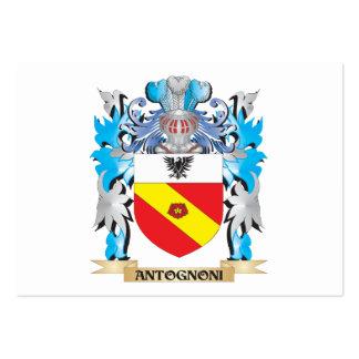 Escudo de armas de Antognoni Plantillas De Tarjeta De Negocio