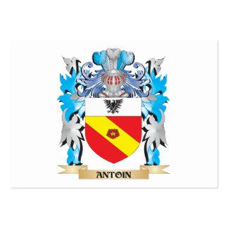 Escudo de armas de Antoin Tarjetas De Visita