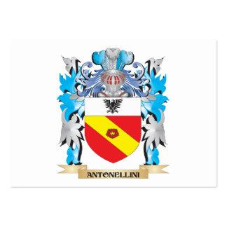 Escudo de armas de Antonellini Plantillas De Tarjeta De Negocio